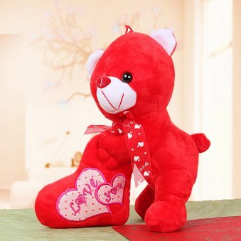 9 inch red love you teddy