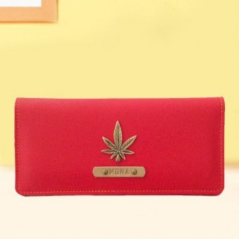 Personalised Red Womens Wallet