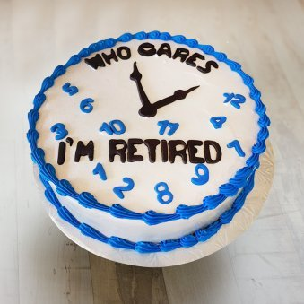 Clock Theme Retirement Cake