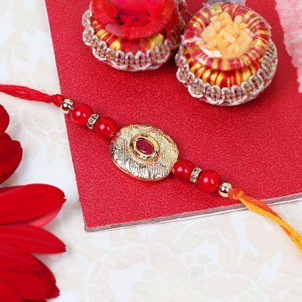 Retro Red Rakhi