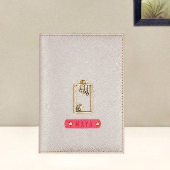 Rosegold Personalized Passport Holder