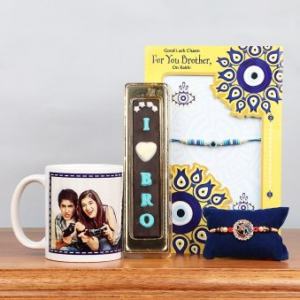 Photo Mug with Rakhi Card Hamper