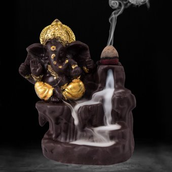 Back Flow Smoke Incense Burner Lord Ganesha