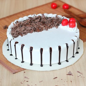 Snowy Black Forest Cake