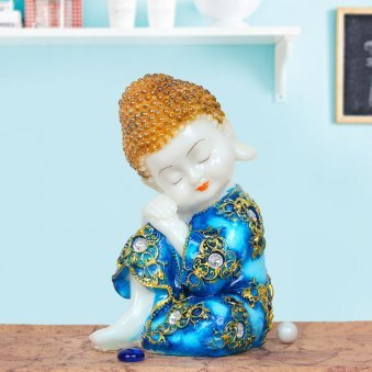 Baby Buddha In Blue Dress