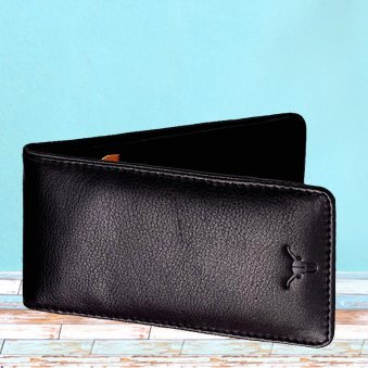Black Color Genuine Leather Card Holder - 7X11.5 cm