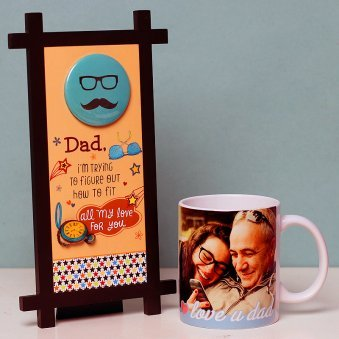 Fathers day Personalised Mug and Quoted Table Top for Dad