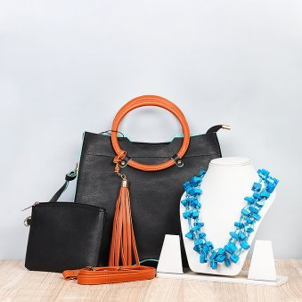 Handbag with Neckpiece Gift Combo
