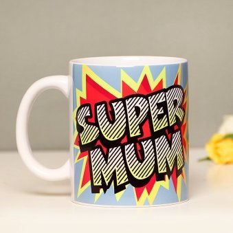 Zoom View of Super Mom Mug