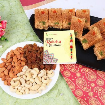 Sweet And Crunchy Rakhi Combo