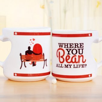 Where you Bean Couple White Mug