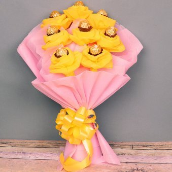 Bouquet of Ferrero Rocher Chocolates