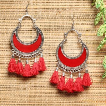 Pair Of Red Earrings