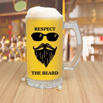Beer mug for bearded men