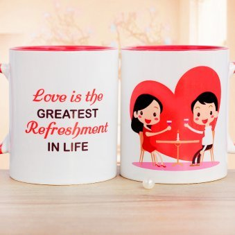 A White Couple Mug with Quote