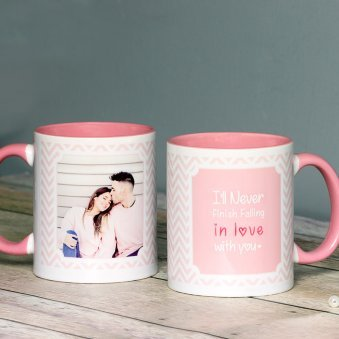 Lovey Dovey Personalised Mug with Both Sided View