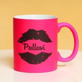 Personalised Pink Love Mug