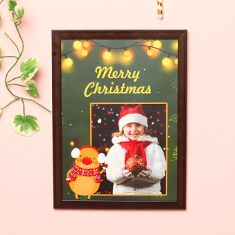 Personalised Christmas Photo Frame