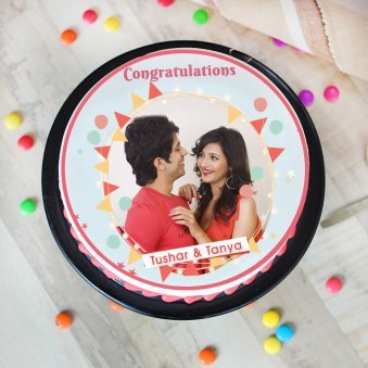 Congratulations Photo Cake