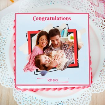 One And Only congratulations photo cake