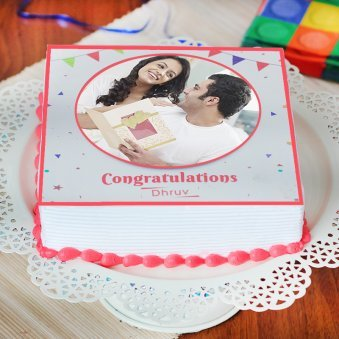 Congratulations Cake - Zoom View