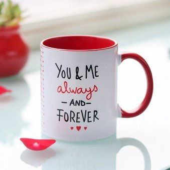 You And Me Forever Printed Mug with Front Side View