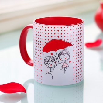 You And Me Forever Printed Mug with Back Side View