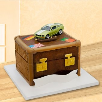 Treasure box theme cake