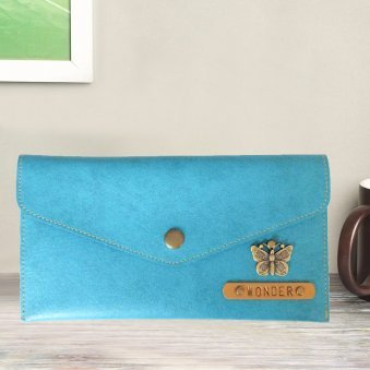 Turquoise Personalized Wonderful Wallet