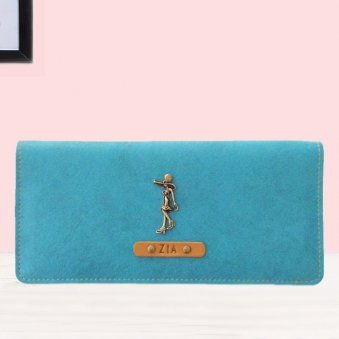 TurQuois Colour Personalised Womens Wallet