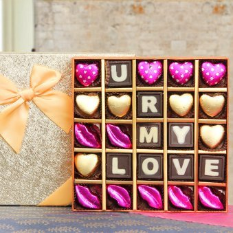 25 handmade chocolates in a box