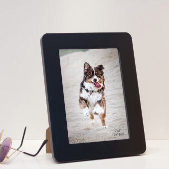 Black Wood 5x7 Photo Frames