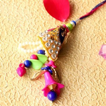 Vibrant Lumba Rakhi for your loved Bhabhi