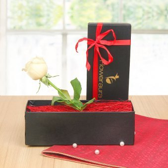 White Rose In A Box