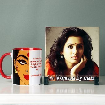 Personalised Photo Frame with Mug for Women