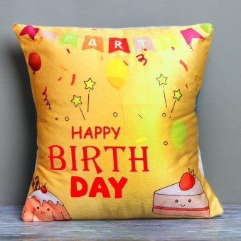 Yellow Birthday Cushion