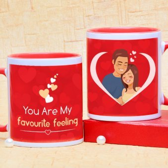 Favorite Feeling Couple Mug with Both Sided View
