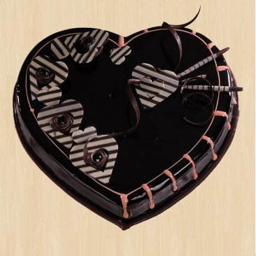 Heart Shaped Chocolate Truffle Cake