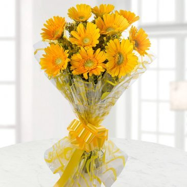 Image 1 of 10 Yellow Gerberas