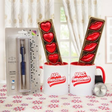 Awesome Ceramic Mug Parker Pen Alongwith a Watch Combo