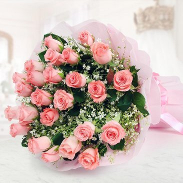 Beautiful Bunch of 25 Pink Roses