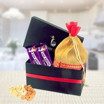MIX DRY FRUIT-CHOCOLATE GIFT BOX