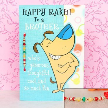 Fun Filled Rakhi - A Greeting Card for Brother