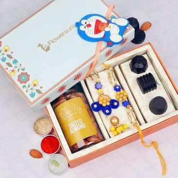 bhaiya bhabhi and kids rakhi set