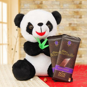 Panda and chocolates combo