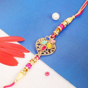 Colorful Gemstone Rakhi