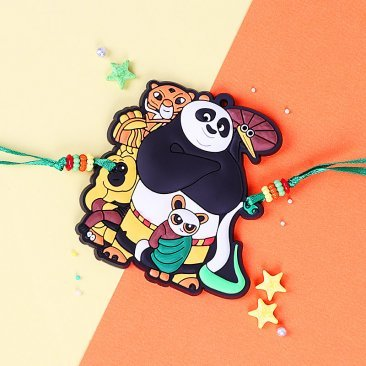 Cute Kung Fu Panda Rakhi for Kids