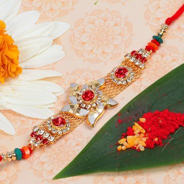 Fancy Star Diamond Rakhi