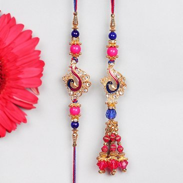 Gorgeous Peacock Rakhi for Bhaiya Bhabhi