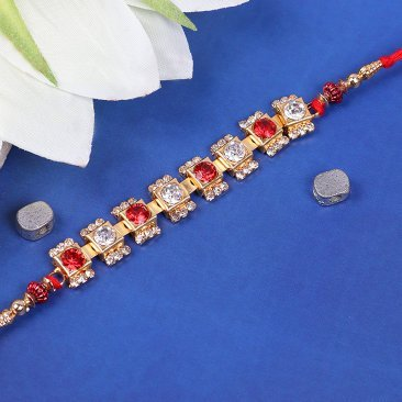 Unique Lustrous Diamond Rakhi